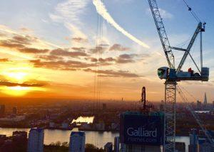 Harbour Central Crane Hire Sunset